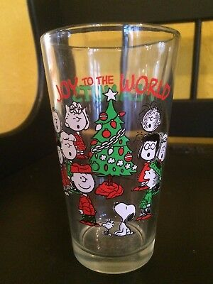 Peanuts Gang 2011 Christmas Joy To the World Glass cup