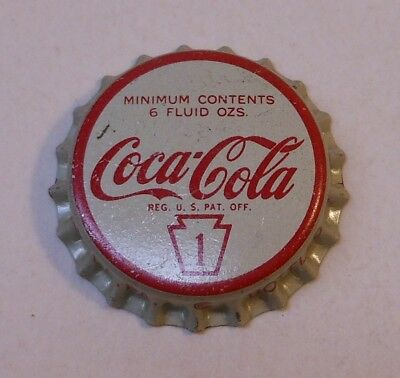 "Vintage Coca Cola ""Penn 1""..cork..unused..Soda Bottle Cap #2"
