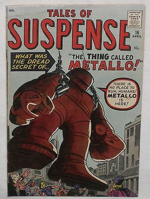 Silver Age TALES OF SUSPENSE #16 IRON MAN Prototype! VG+ 4.5