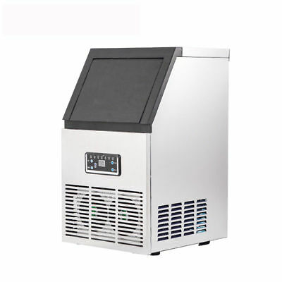 AC220V Auto Commercial Ice Maker Cube Machine 50KG Stainless Steel Bar 230W
