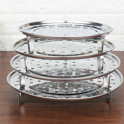 Stainless Steel Steamer Rack Insert Stock Pot Steaming Tray Stand Cookware Tools