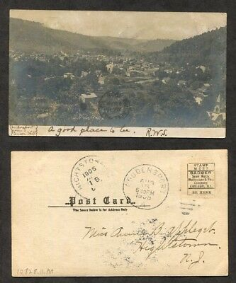 1905 Antique RPPC Real Photo Postcard  Coudersport PA Potter County Pennsylvania
