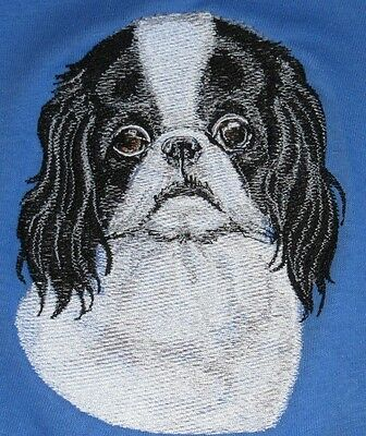 Embroidered Long-Sleeved T-Shirt - Japanese Chin BT3586  Sizes S - XXL