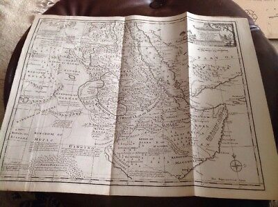 Original 18th Century -New & Accurate Map Of Nubia & Abissinia By Emmanuel Bowen