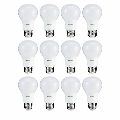 Philips 5.5W A19 40W Replacement 450 Lumen Soft White LED Light Bulb, 12 Pack