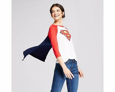 Women's Superman T-Shirt with Cape New with Tag
