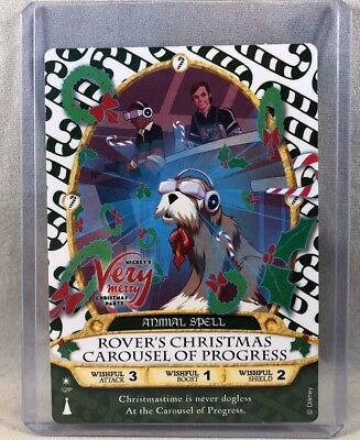 Mickey's Very Merry Christmas Party Sorcerers Of The Magic Kingdom Card Rover