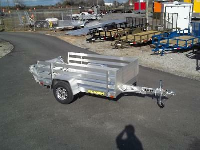 2017 aluma 548 Cargo Aluminum Utility Trailer with 24 inch side rack set 54 x 8
