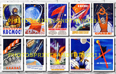 RUSSIAN SPACE PROGRAM posters - collectable postcard set # 2