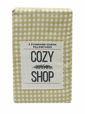 Cozy Shop 2-Standard Cotton Gold Pillowcases, Gold