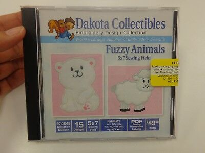 Dakota Collectibles #970649 Fuzzy Animals Multi Format Embroidery Designs CD