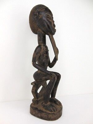 Important BAULE SEATED MALE FIGURE Ivory Coast Africa from Missionary Family