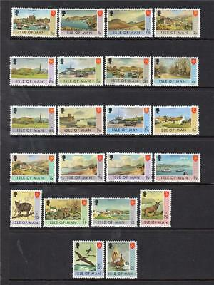 Isle Of Man 1973 M/m Sg12-33 Definitive Set Of 22