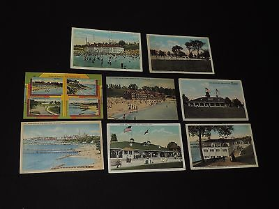 Vintage Postcard Lot Cleveland Ohio Edgewater Park Beach & More (*433)