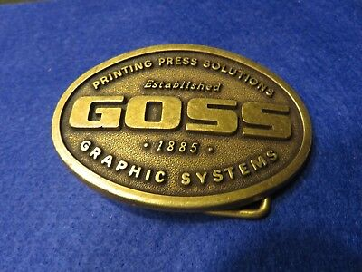 Metal Belt Buckle Goss Priniting Press Solutions Graphic Systems Brass?