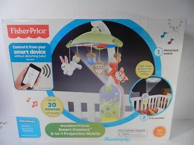 Fisher-Price Smart Connect Deluxe Projection Mobile CDM85-CO Fisher Price NEW