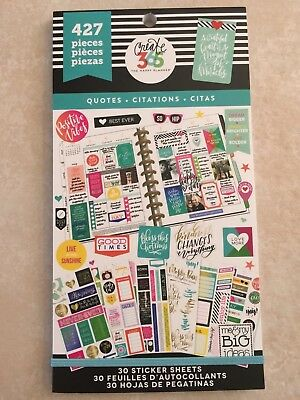Create 365™ The Happy Planner™ Quotes Value Pack Stickers 427 NEW