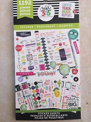 Create 365® The Happy Planner® Teacher Edition Sticker Sheets, Sweet 1192 NEW