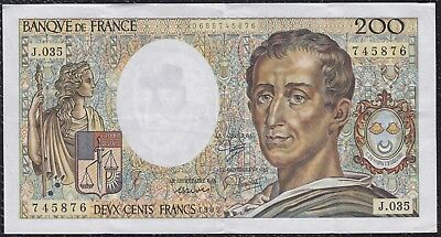 200 Francs from France 1985 Xf+ G5