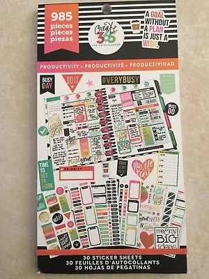 Create 365™ The Happy Planner™ Productivity Value Pack Stickers 985 NEW