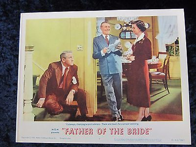FATHER OF THE BRIDE lobby card #8  SPENCER TRACY original lobby card (R 1962)
