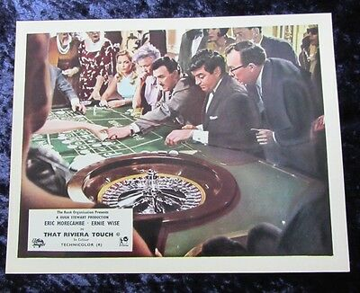 THAT RIVIERA TOUCH lobby card #5 ERIC MORECAMBE, ERNIE WISE mini uk card