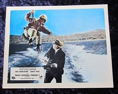 THAT RIVIERA TOUCH lobby card #8 ERIC MORECAMBE, ERNIE WISE mini uk card