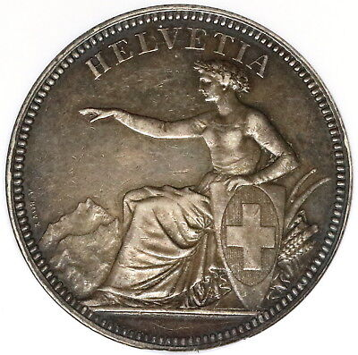 1874 NGC XF 45 SWITZERLAND Silver 5 Francs Swiss Coin (16111218CZ)