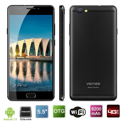 6200mA 32GB 5.5''Vernee Thor Plus 4G Android7.0 OctaCore 13MP 2*SIM Smartphone