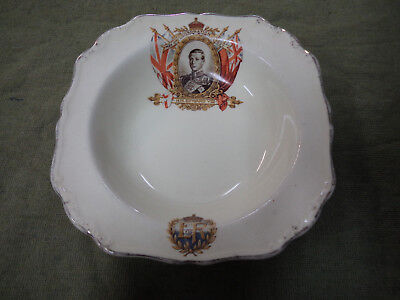 #cc8.  Edward Viii Coronation China Meakin  Dish