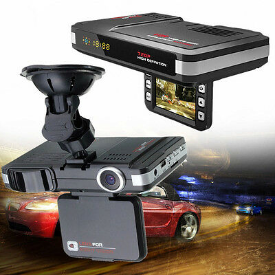 2-in-1 MFP RADAR LASER SPEED Detektor 5MP AUTO DVR Rekorder Trafic Alert