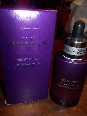 Missha Time Revolution Night Repair Science Activator Ampoule (50ml) new
