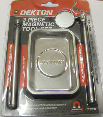 3 Piece Magnetic Tool Set Dekton Tray Pick Up Tool Magnet Home Office Workshop