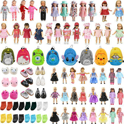 Cute Dolls Dress Clothes Set Bag Shoes Accessories for 17'' Zapf Baby Born Doll