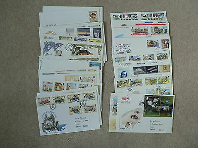 Isle of Man First Day Covers, Sold Individually, 1994, 1995, 1996, Handwritten
