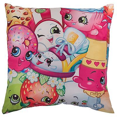 Shopkins Jumble Large Cushion Filled Pink Colourful Girls Double Sided