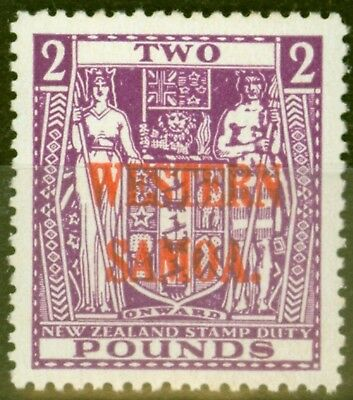 Western Samoa 1947 £2 Brt Purple SG212 Fine Very Lightly Mtd Mint