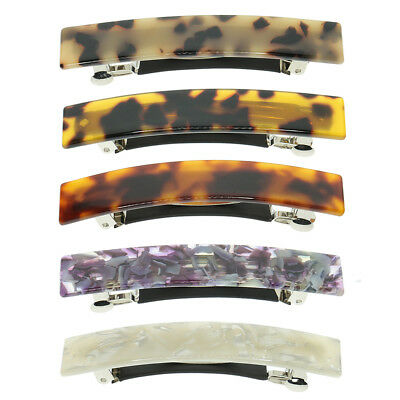 Leopard French Hair Clip Acetate Automatic Barrette Spring Hair Accessories