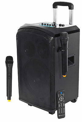"Rockville 10"" Portable YouTube Bluetooth Karaoke Machine/System+(2) Microphones"