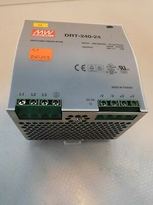 Mean Well DRT-240-24 INPUT 400-500V AC 3-PHASE 0,95a 50/60 Hz Output 24V DC 10A