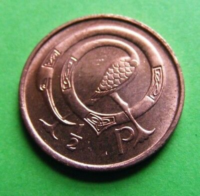 Uncirculated 1971 Irish Decimal Half Penny Coin Ireland Excellent Luster Éire