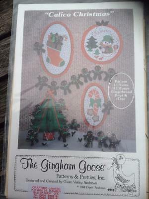 GINGHAM GOOSE CHRISTMAS Sewing Pattern - Wreath, Banner, Placemats ...