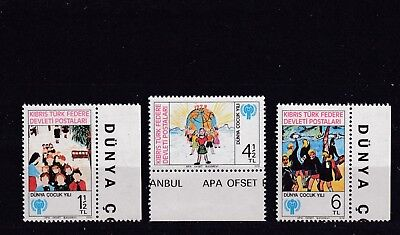 Turkish Cypriot Posts - Sg85-87 Mnh 1979 International Year Of The Child