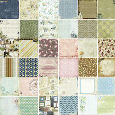 "Paper 24PCS 6"" Vintage Flowers Craft Scrapbooking DIY Photo Album Background"