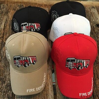 WHOLESALE DEALERS LOT 5 X Assorted FIRE TRUCK Baseball Caps Adjustable HAT180 -m