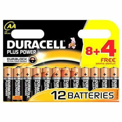 12 x Duracell AA Plus Power Duralock Batteries - LR6, MN1500, MIGNON, STILO