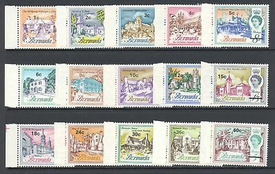 Bermuda 1970 QEII Surcharged Scenes Flowers Selection MNH £39.80/$52