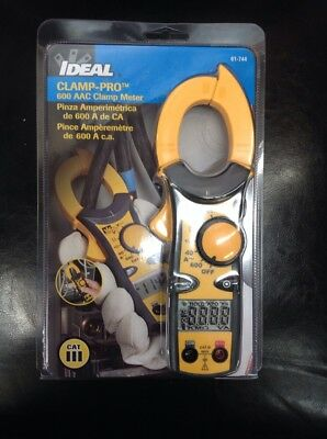 IDEAL 61-744 600 Amp Clamp-Pro Clamp Meter New Sealed