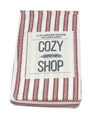 Cozy Shop 2-Standard/Queen Cotton Little Vines Pillowcases, Red