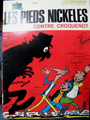 Les Pieds Nickeles  Contre Croquenot  N° 59 - Reedition 1974